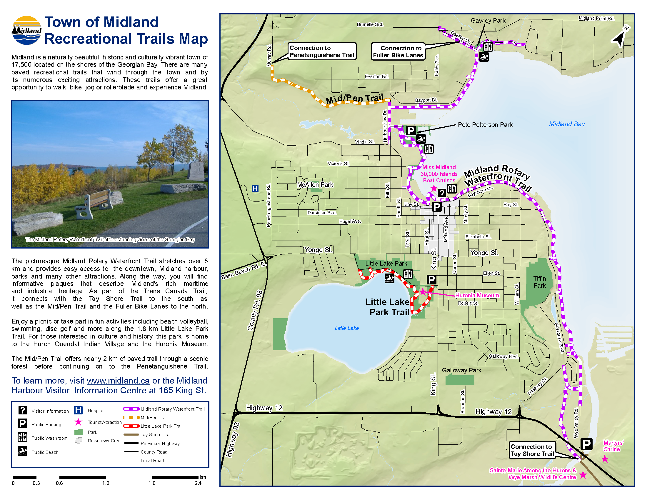 Midland Rec Trails Map