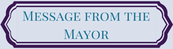 message from mayor