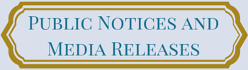 public notices and media releases