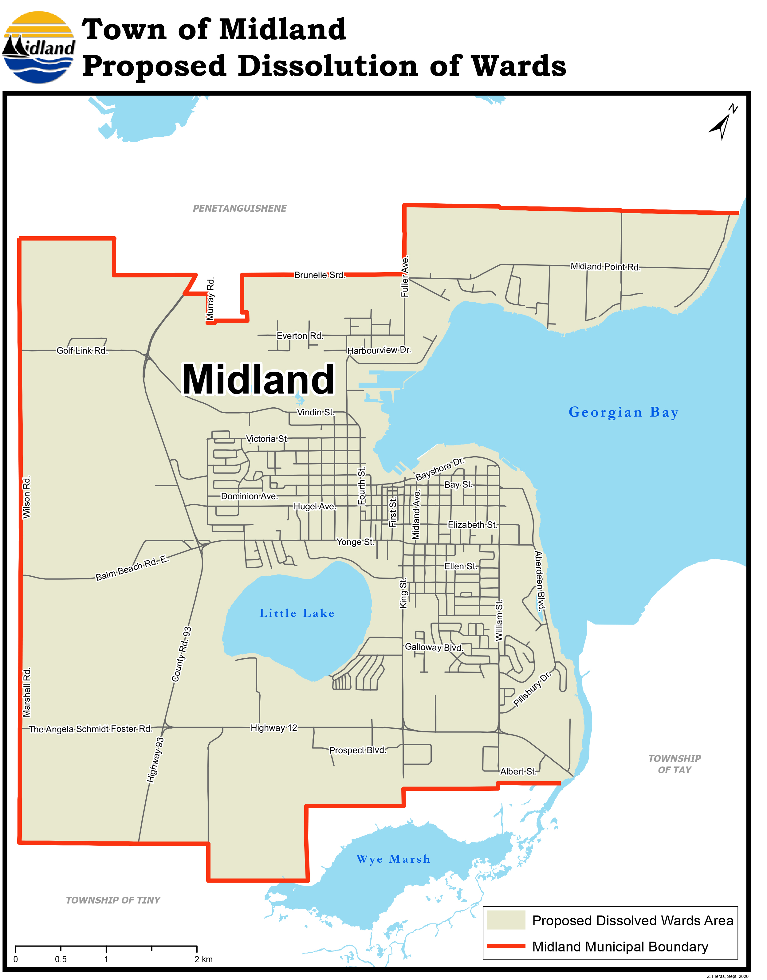 Town of Midland - Proposed Ward Boundaries