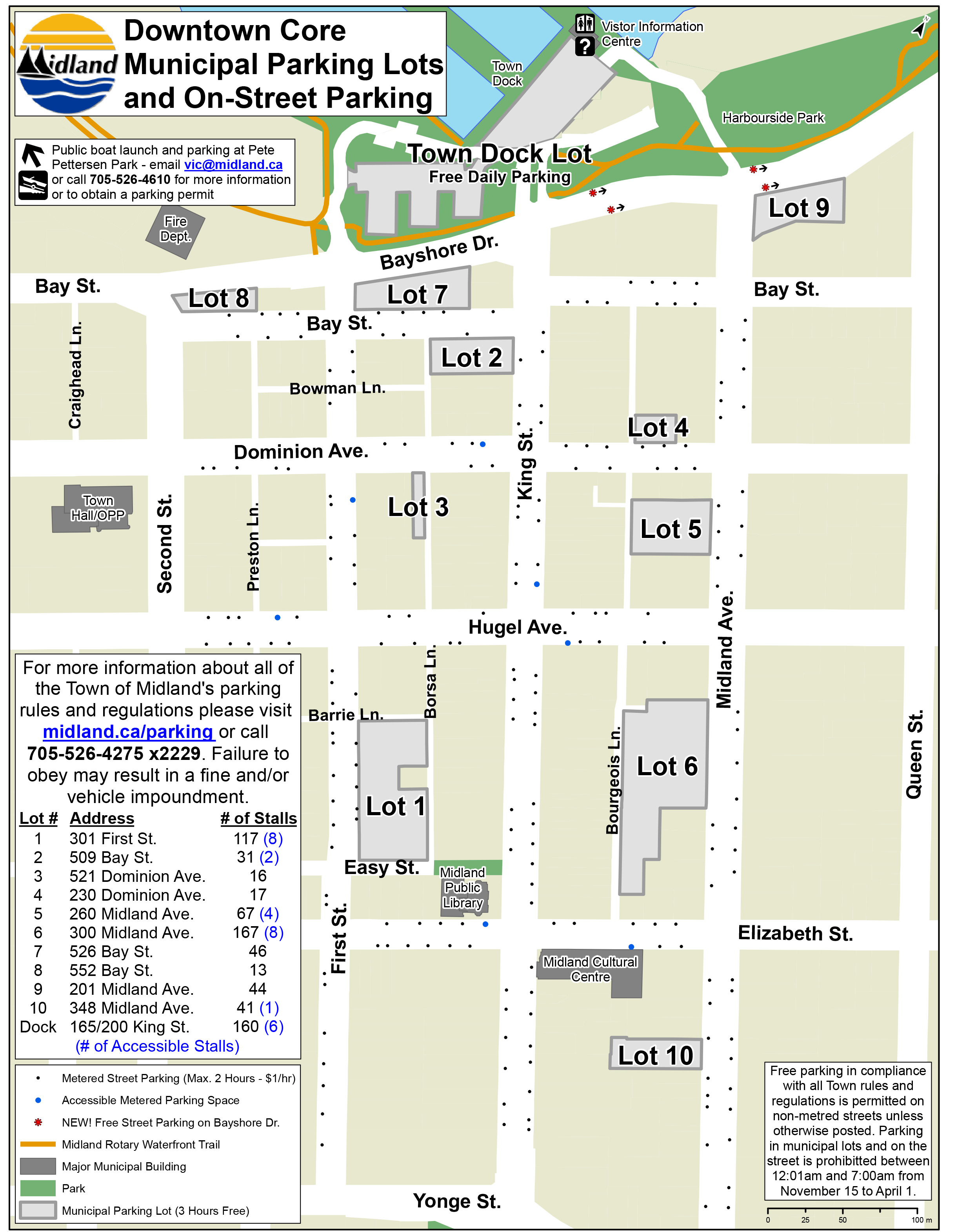 Municipal Parking Map. Click to view larger image